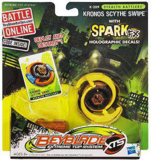 Hasbro Beyblade XTS Stealth Battlers Spark FX Kronos Scyt...