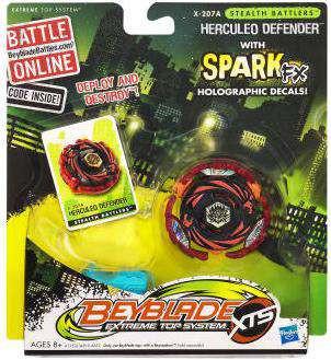 Hasbro Beyblade XTS Stealth Battlers Herculeo Defender Si...