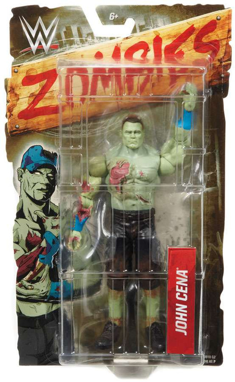 WWE Wrestling Zombies John Cena Action Figure [Damaged Pa...