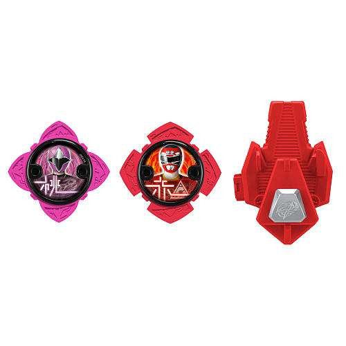 Power Rangers Ninja Steel Series 1 Pink & Red Ninja Power...