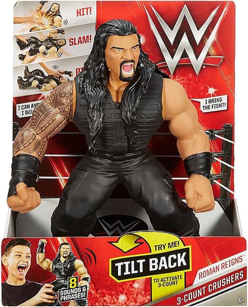 Mattel WWE Wrestling 3-Count Crushers Roman Reigns Deluxe...