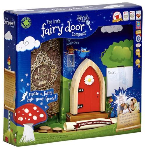 NO BRAND The Irish Fairy Door Company Red Arched Irish Fa...