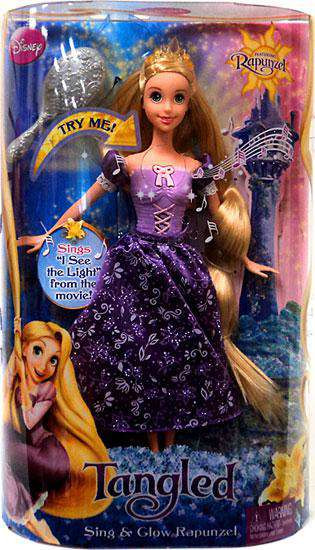 Disney Tangled Sing & Glow Rapunzel Doll [Damaged Package]