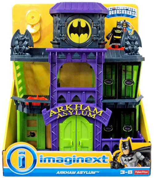Batman Arkham Knight Batcave: Fisher Price DC Super Friends Batman Imaginext Arkham