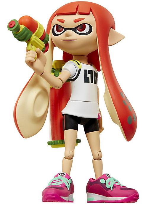 World of Nintendo Inkling Girl with Blaster 4 Action Figure Jakks Pacific - ToyWiz