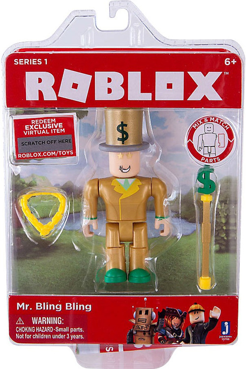 Roblox Series 1 Mr. Bling Bling Mini Action Figure ...