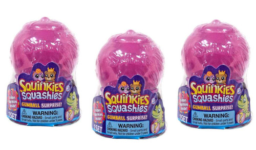 Squinkies Squashies Season 1 Gumball Surprise [set of 3]