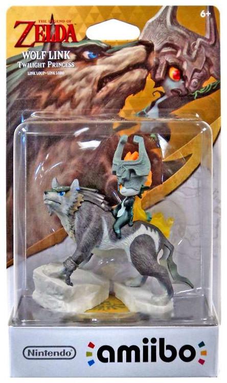 Nintendo Zelda Amiibo Wolf Link Exclusive Mini Figure [Tw...
