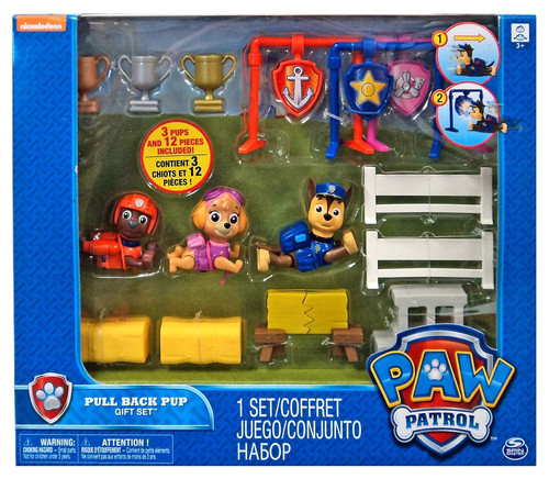 paw patrol pull back pup 3 pack zuma skye chase exclusive gift set spin master toywiz. Black Bedroom Furniture Sets. Home Design Ideas