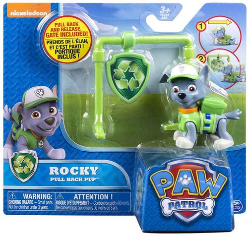 paw patrol pull back pup rocky figure spin master toywiz. Black Bedroom Furniture Sets. Home Design Ideas