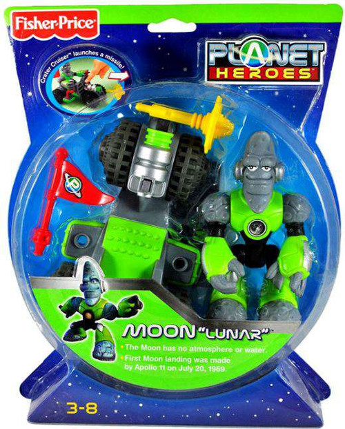Fisher Price Planet Heroes Moon Lunar Action Figure