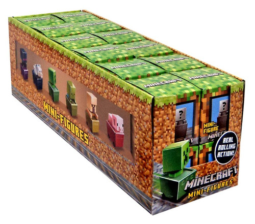 Toy Mystery Box : Minecraft minecart series mystery box packs mattel