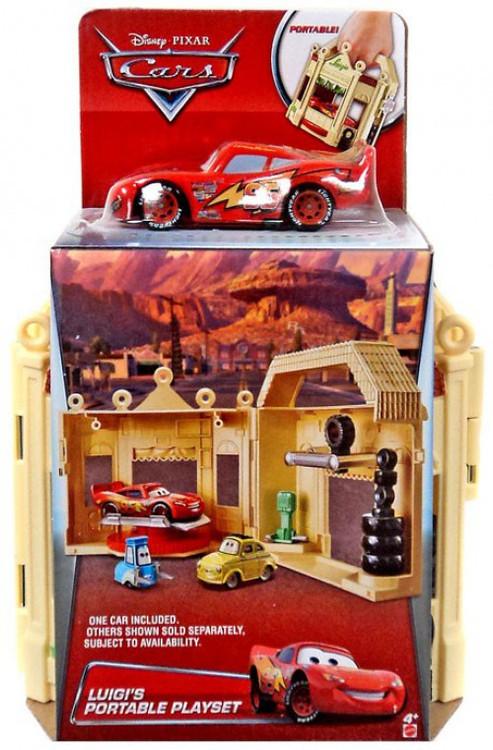 Mattel Disney Cars Luigi's Portable Playset