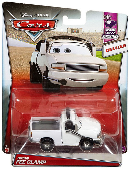 Mattel Disney Cars Cars Piston Cup Reporters Brian Fee Cl...