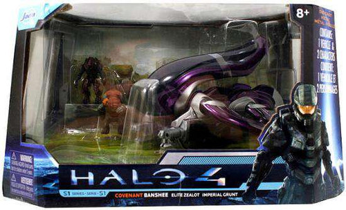Halo 4 S-1 Series Covenant Banshee with Elite Zealot & Im...