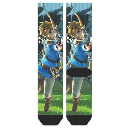 Bioworld The Legend of Zelda Breath of the Wild Sublimated Crew Socks Apparel (Pre-Order ships July)