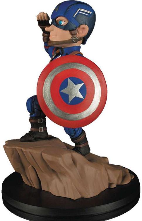 Marvel Q-Fig Captain America Statue [Civil War, Damaged P...