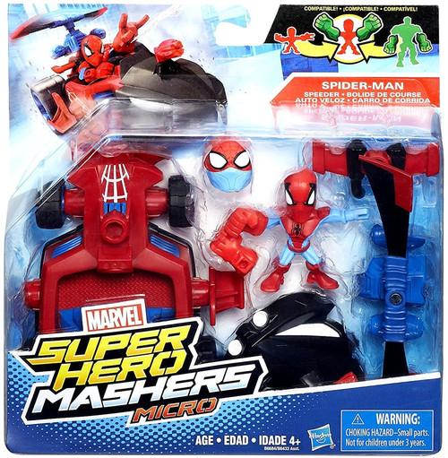 Hasbro Marvel Super Hero Mashers Micro Spider-Man & Speed...