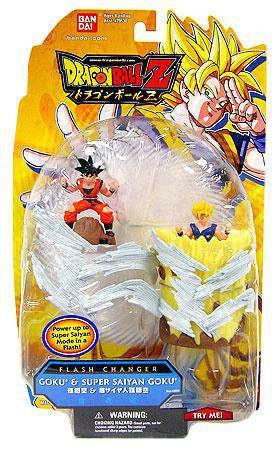 Bandai Dragon Ball Z Flash Changer Goku & Super Saiyan Go...