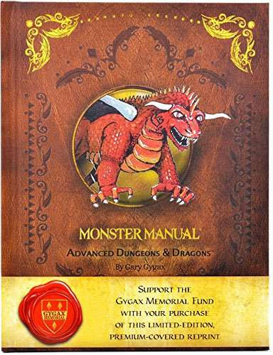 Dungeons & Dragons AD&D 1st Edition Monster Manual Roleplaying Book [Premium Reprint]