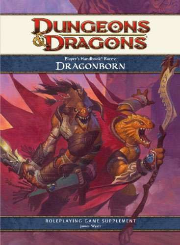 Wizards Of The Coast Dungeons & Dragons D&D 4th Edition Player's handbook Races Dragonborn