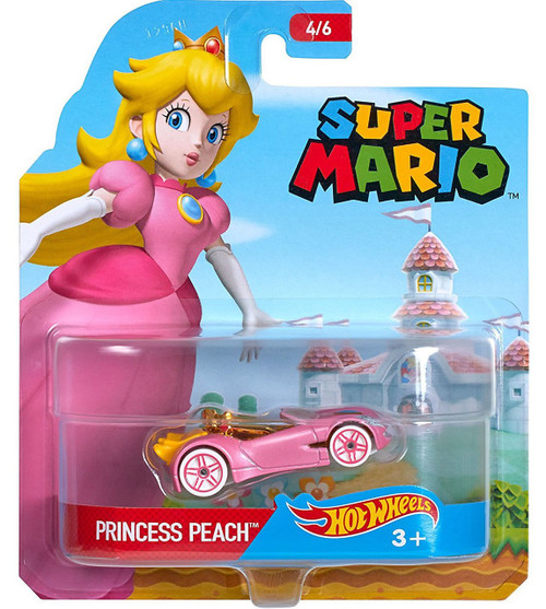 Mattel Hot Wheels Super Mario Princess Peach Diecast Char...