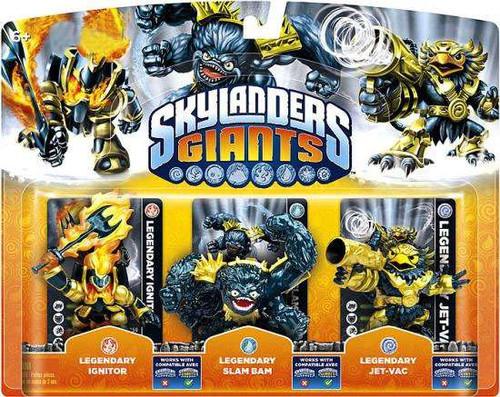 Skylanders Giants Legendary Ignitor, Slam Bam & Jet-Vac E...