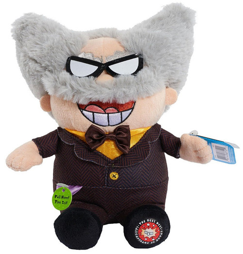 Captain Underpants Professor Poopypants Talking Plush Just