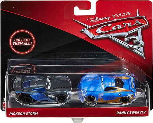 Disney cars cars 3 jackson storm danny swervez diecast 2 for Three jackson toy