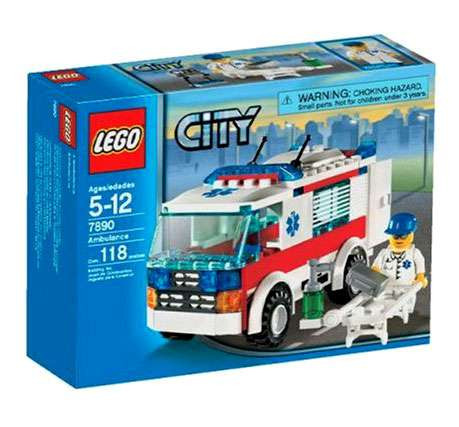 LEGO City Ambulance Set #7890 [Damaged Package]