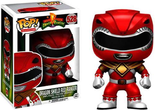 Funko Power Rangers Funko Pop Tv Dragon Shield Red Ranger