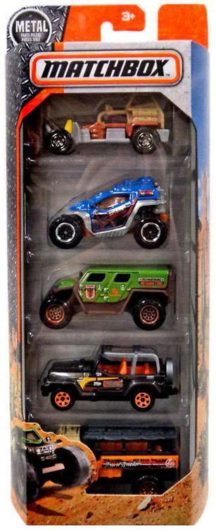 Mattel Matchbox Rugged Vehicles Diecast Vehicle 5-Pack [D...