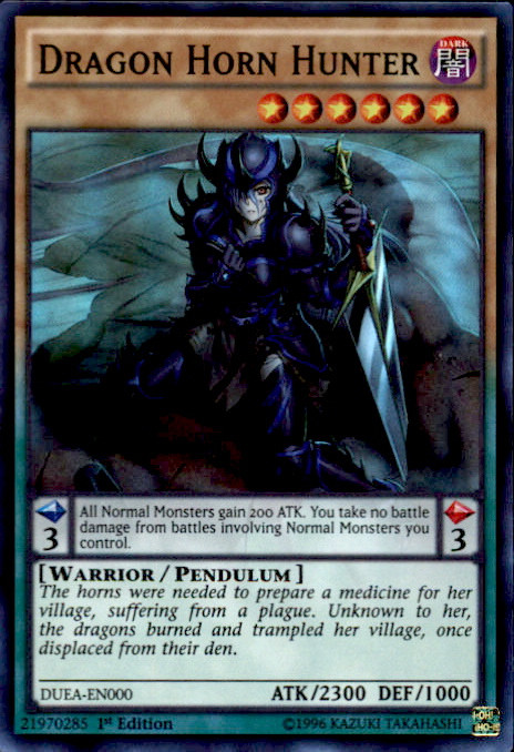 Konami YuGiOh Duelist Alliance Super Rare Dragon Horn Hun...
