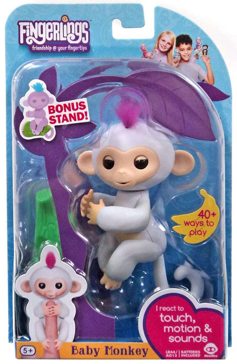 Fingerlings Baby Monkey Sophie Figure With Bonus Stand