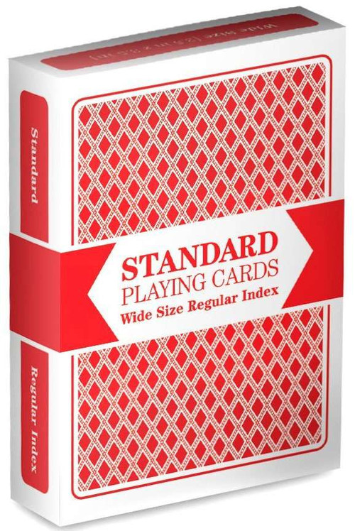 Playing Cards Standard Wide Size Regular Index Playing