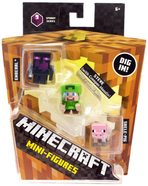 Minecraft Toys And Mini Figures For Kids : Minecraft halloween steve with hoodie skeleton pig