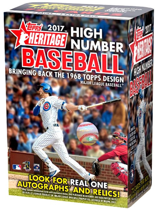 MLB 2017 Topps Heritage Baseball Cards 2017 Topps Heritage High Number Trading Card Blaster Box