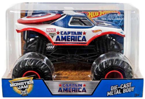 Hot Wheels Monster Jam 25 Captain America Diecast Car