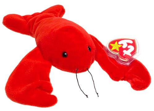 Disney Beanie Babies Pinchers the Lobster Beanie Baby Plush