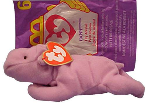 Beanie Babies McDonalds 1998 Happy the Hippo Teenie Beani...