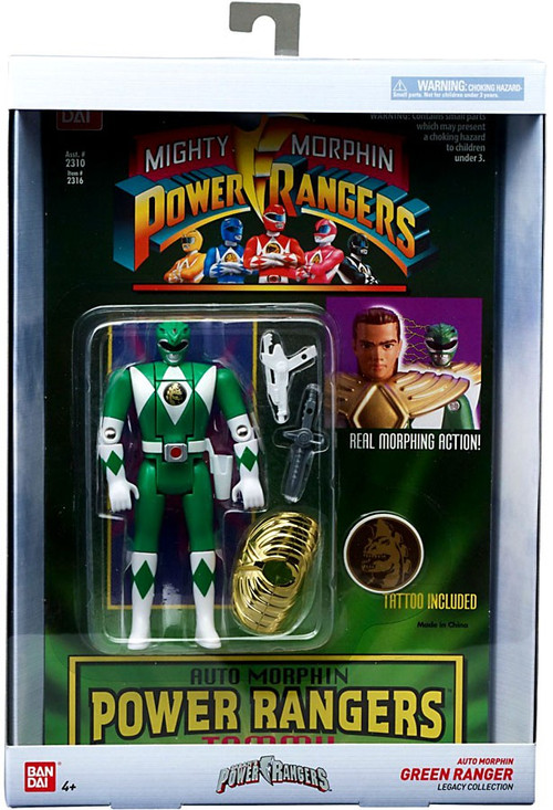 Best Power Ranger Toys And Action Figures : Power rangers mighty morphin legacy green ranger head