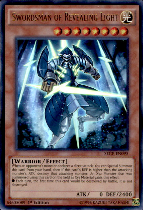 Wall Of Revealing Light Yugioh Espanol : YuGiOh Secrets of Eternity Single Card Ultra Rare Swordsman of Revealing Light SECE-EN095 - ToyWiz