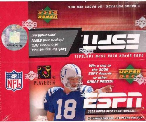Upper Deck NFL 2005 ESPN Trading Card Hobby Box