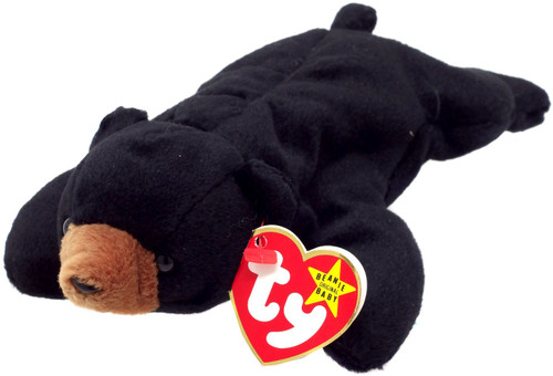 Beanie Babies Blackie the Bear Beanie Baby Plush