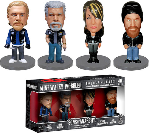 FUNKO INC. Sons of Anarchy Mini Wacky Wobbler Jax, Clay, ...
