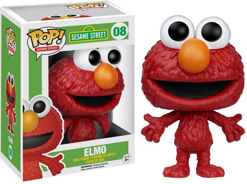 FUNKO INC. Sesame Street Funko POP TV Elmo Vinyl Figure #08