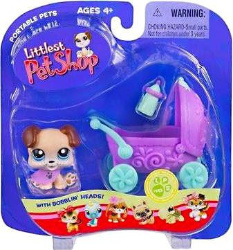 Hasbro Littlest Pet Shop Portable Pets Puppy Figure #143 ...