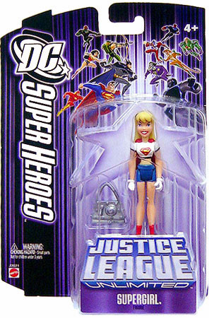 DC Justice League Unlimited Super Heroes Supergirl 3.75 ... Purple Happy Holidays Pictures