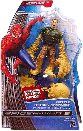 Hasbro Spider-Man 3 Battle Attack Sandman Action Figure