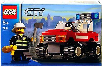 lego city fire chief car set 7241 toywiz